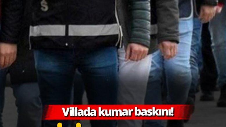 Samsun'da villaya kumar baskını! 47 kişi yakalandı