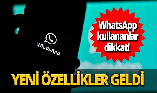 WhatsApp'ın masaüstü sürümüne yeni özellikler geldi