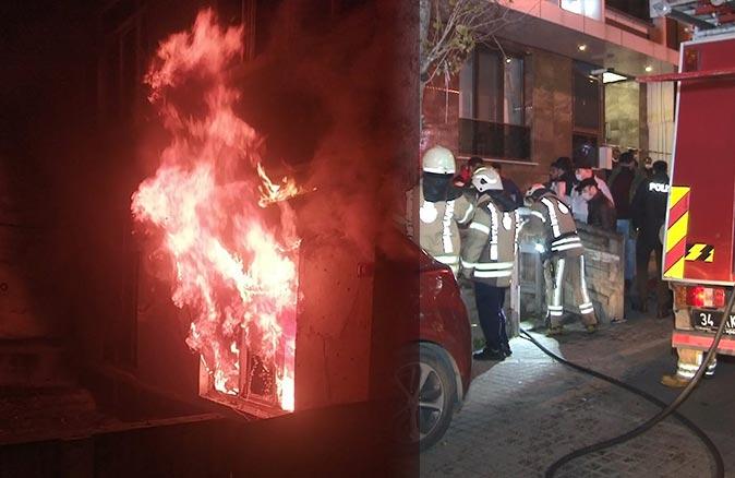 3 katlı binada yangın çıktı! Komşular seferber oldu