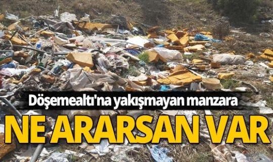 Yeşil değil çöplük alan olmuş