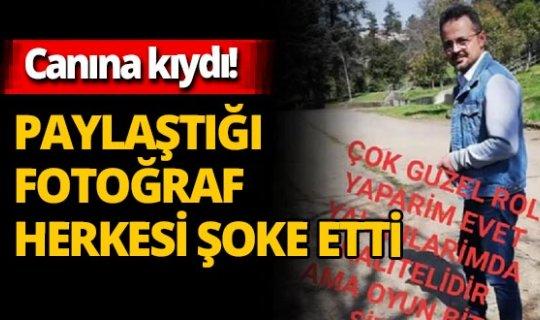 Zonguldak'ta ayrı yaşadığı eşinin evinin önünde canına kıydı! Paylaştığı fotoğraf herkesi şoke etti