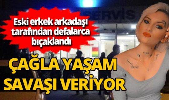 Zonguldak'ta eski erkek arkadaşının bıçakladığı Çağla Çiçekçi yaşam savaşı veriyor