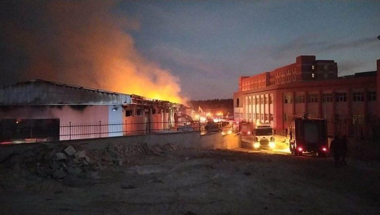 Kampüste çıkan yangın hakkında açıklama