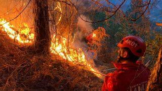 Bahçe temizliği yapmak isteyen vatandaş yangına neden oldu