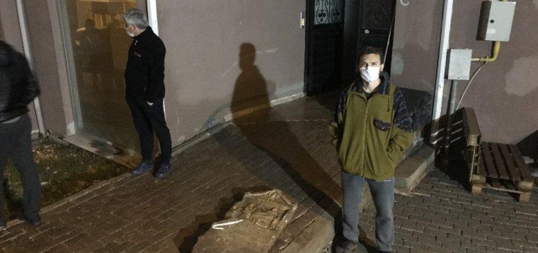 Evinden inşaat çalışmasını izlerken fark etti, polise haber verdi