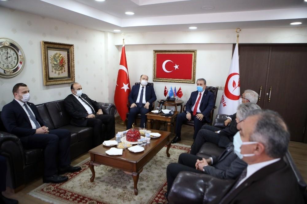 BBP Genel Başkanı Destici, Çelebi görüştü