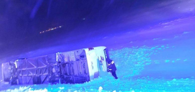 Bitlis-Tatvan karayolunda otobüs kazası