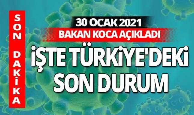 SON DAKİKA! 30 Ocak 2021 Cumartesi koronavirüs tablosu açıklandı