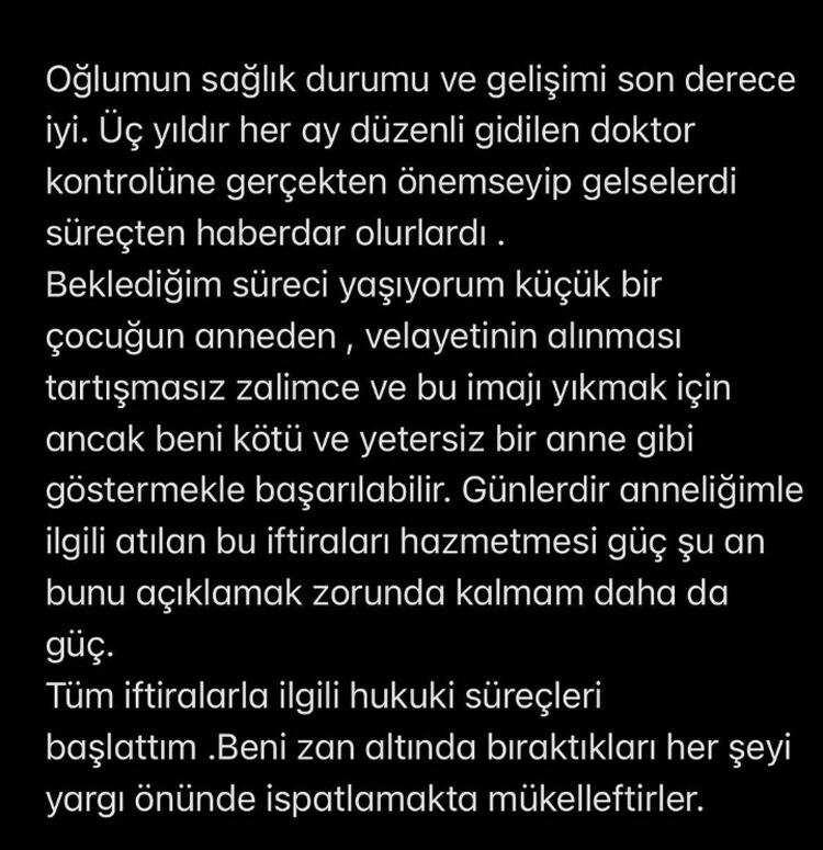 Feyza Aktan'ın açıklaması