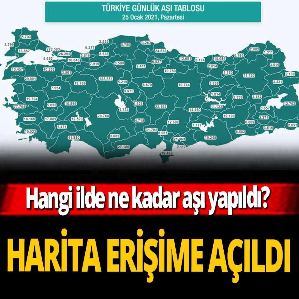 Bakan Koca duyurmuştu! Türkiye'nin aşı haritası erişime açıldı