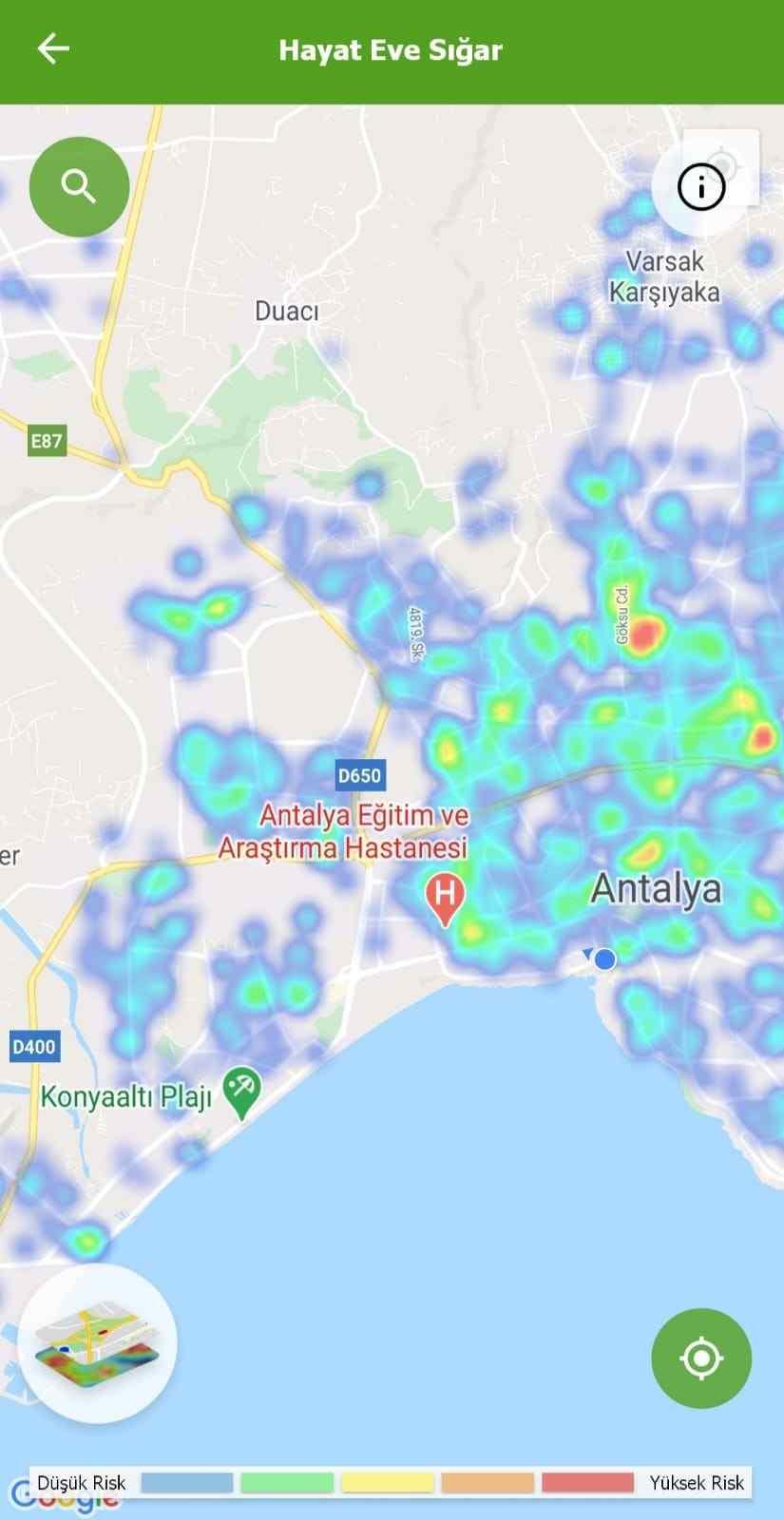 12 Ocak 2021 Antalya'nın risk haritası