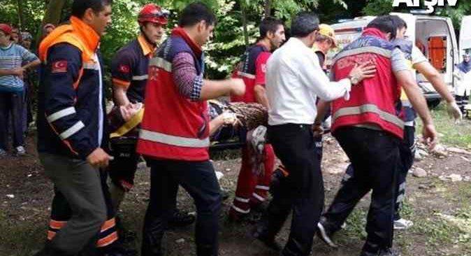 Ağaçtan düşen adam ağır yaralandı