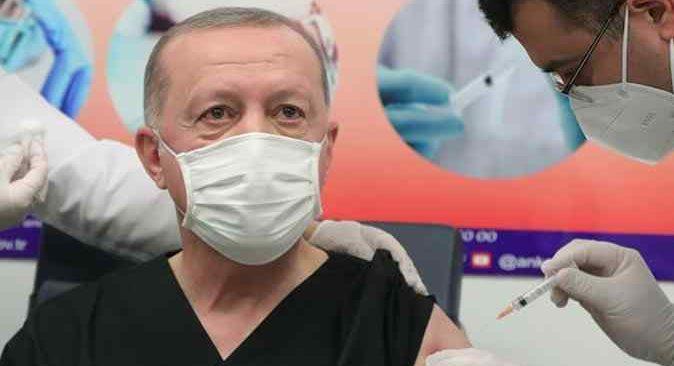 Cumhurbaşkanı Erdoğan, Covid-19 aşısı oldu