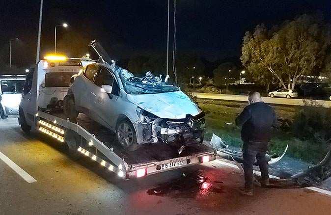 Döşemealtı'nda takla atan aracın sürücüsü hayatını kaybetti