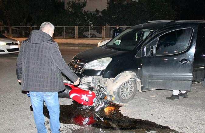 Kaza sonrası 3 metre sürüklendi