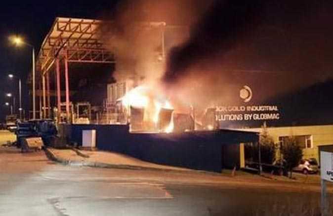 Ankara'da, fabrika nizamiyesinde korkutan yangın