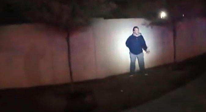 ABD polisinin şüpheli kişiye kurşun yağdırdığı anların görüntüleri ortaya çıktı