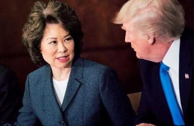 Trump kabinesinden ilk istifa eden Ulaştırma Bakanı Chao oldu