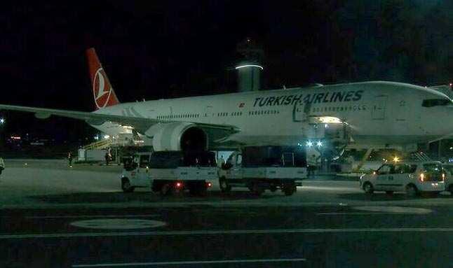 Aşıları getiren uçak Türkiye'ye geldi