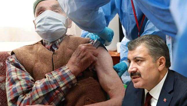 Sağlık Bakanı duyurdu! 90 yaş üstü vatandaşlar evlerinde aşılanmaya başlandı