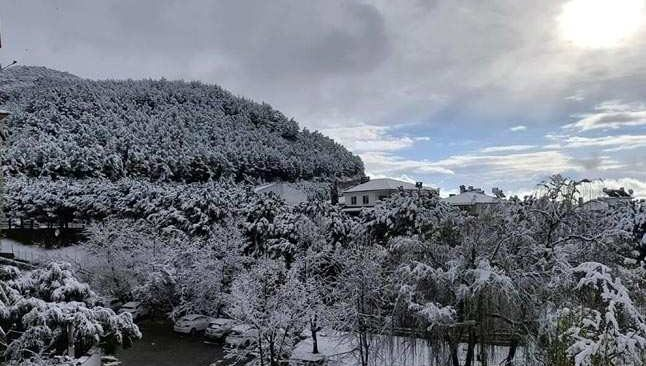 40 yıl sonra Bodrum'a kar sürprizi