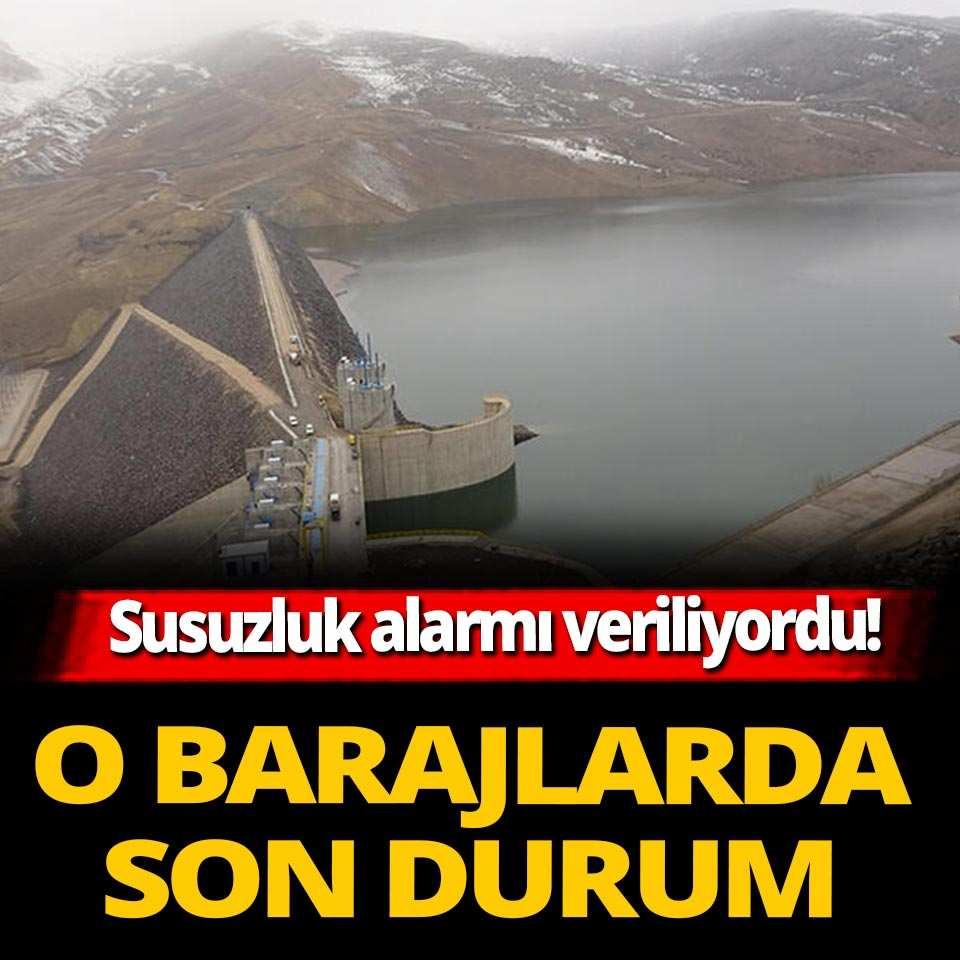 Alparslan-1 ve 2 barajlarındaki su yüksek seviyelerde seyrediyor