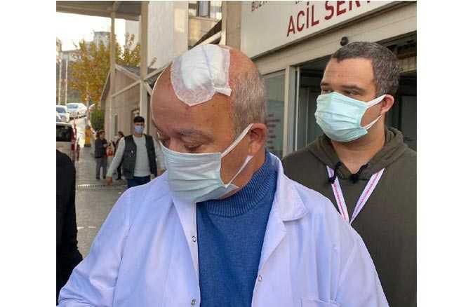 izmirde-hekime-siddet-maske-uyarisi-yapan-doktora-hasta-yakini-tasla-saldirdi