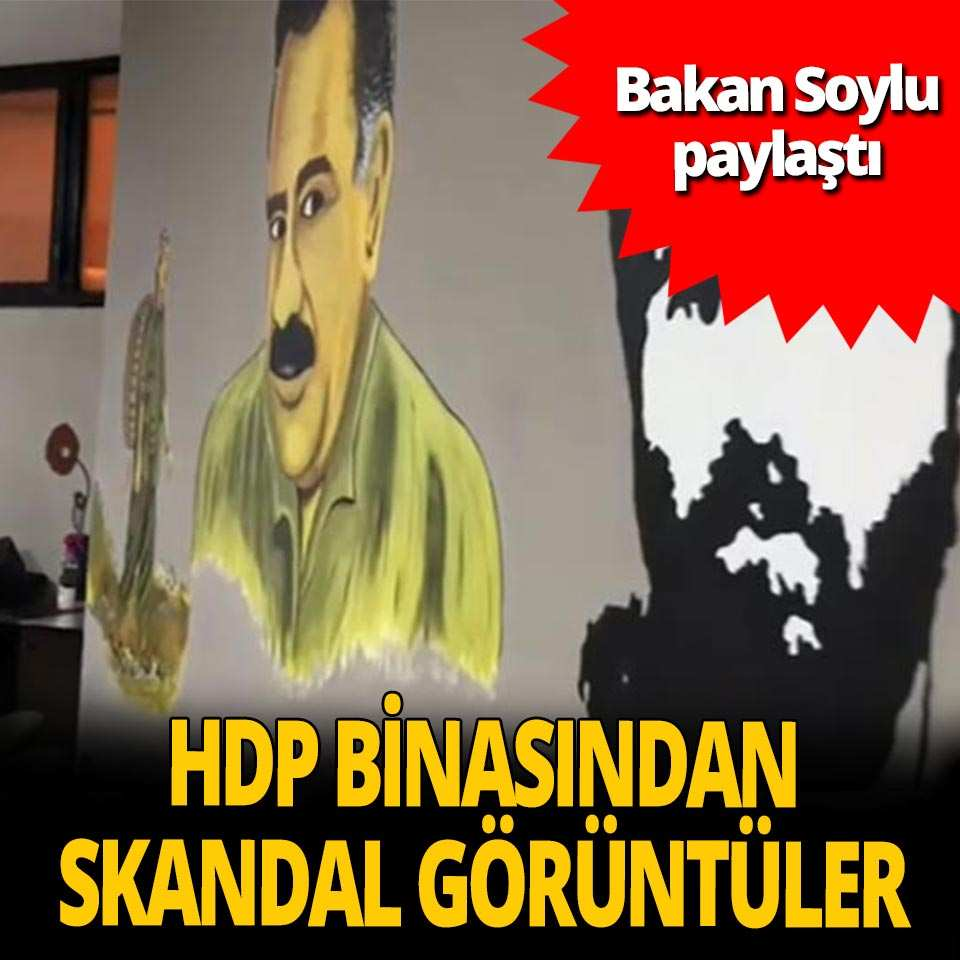 İçişleri Bakanı Soylu, HDP binasına gerçekleştirilen operasyondan görüntüler paylaştı!