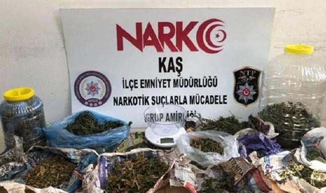 Antalya'da 1 buçuk milyon TL'lik makaron ele geçirildi