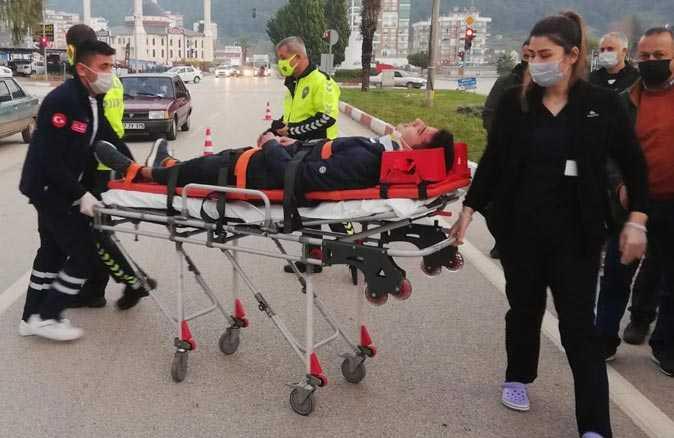 Kumluca'da motosiklet kazası...