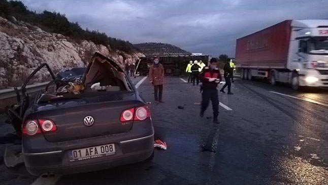 SON DAKİKA! Pozantı-Ankara otoyolunda feci kaza çok sayıda kişi hayatını kaybetti