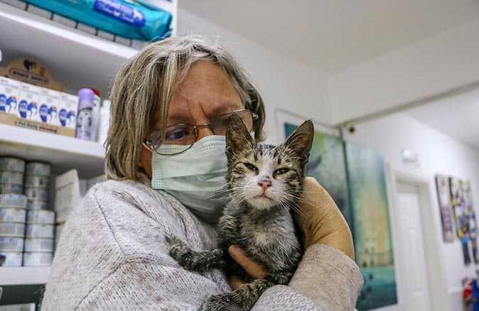 Bakımları için kredi çektiği kedileri ısıtmak isterken evi yandı