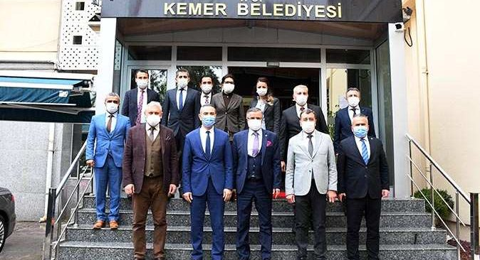 Antalya İl Milli Eğitim Müdürü Hüseyin Er, Başkan Topaloğlu'nu ziyaret etti