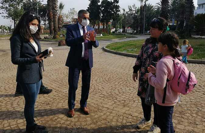 Başkan Topaloğlu Mustafa Ertuğrul Aker parkındaki çalışmayı yerinde inceledi