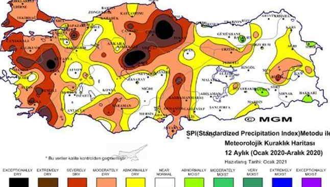 Meteoroloji'den korkutan harita! Kuraklık tehdidi büyüyor