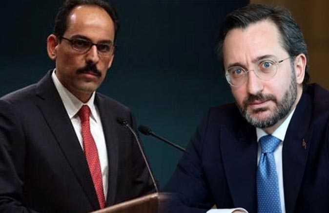 Fahrettin Altun ve İbrahim Kalın'dan ABD'deki olaylara ilişkin açıklama