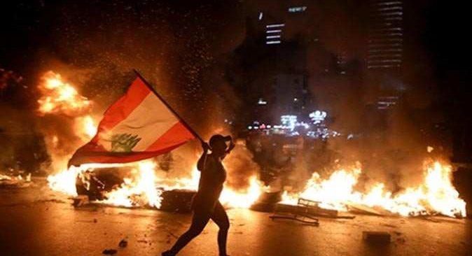 Lübnan'daki protestolarda 82 kişi yaralandı