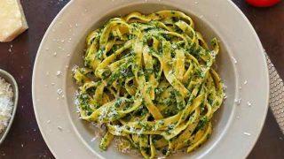 Pesto soslu kremalı makarna tarifi