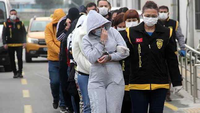 Adana'da fuhuş operasyonu! 14 zanlı gözaltına alındı