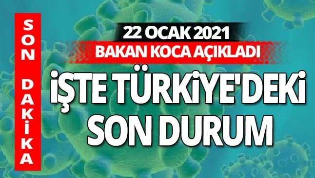 SON DAKİKA! 22 Ocak 2021 Cuma koronavirüs tablosu açıklandı