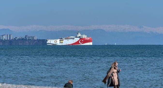 Oruç Reis, yeniden Antalya açıklarında