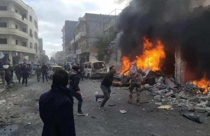 Azez'de bomba yüklü araç infilak etti: Çok sayıda ölü ve yaralı var
