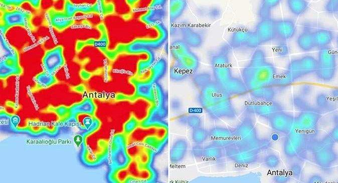 Antalya'da koronavirüs risk haritası maviye döndü