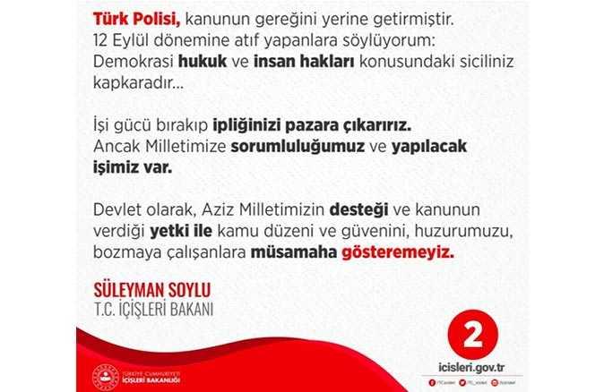 İçişleri Bakanı Süleyman Soylu'nun açıklaması