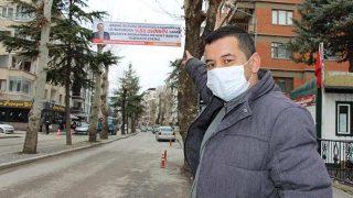 Suya yüzde 50 indirim geldi, kentin sokaklarına teşekkür pankartları asıldı