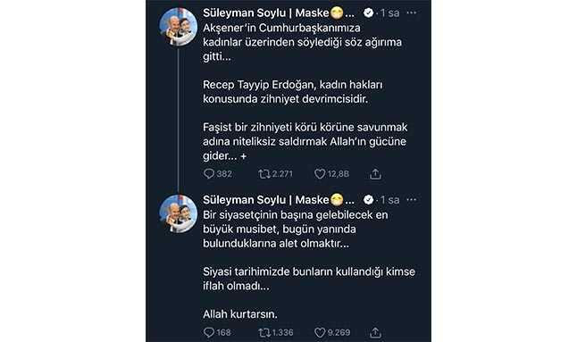 Süleyman Soylu'nun Meral Akşener'i hedef alan paylaşımı