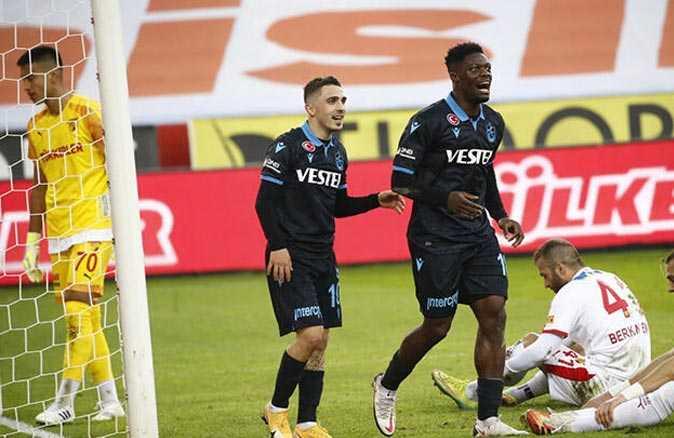 Trabzonspor son 5 maçtır boş geçmiyor