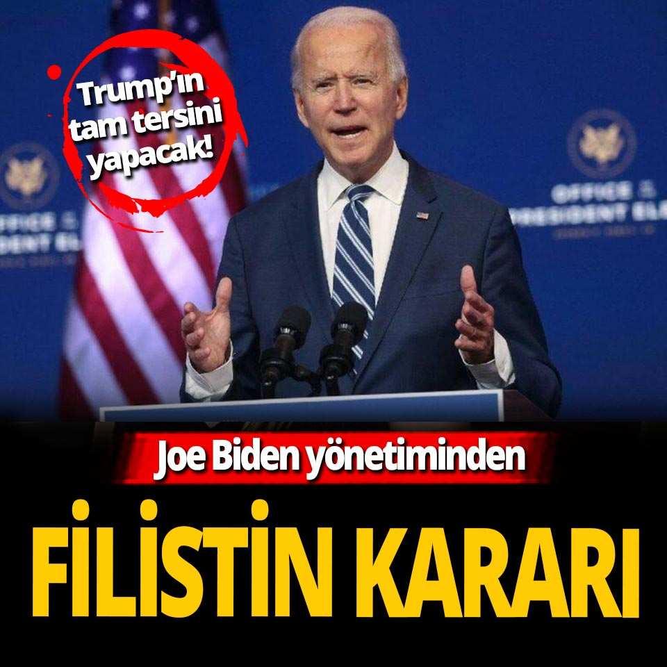 Joe Biden yönetiminden kritik Filistin açıklaması