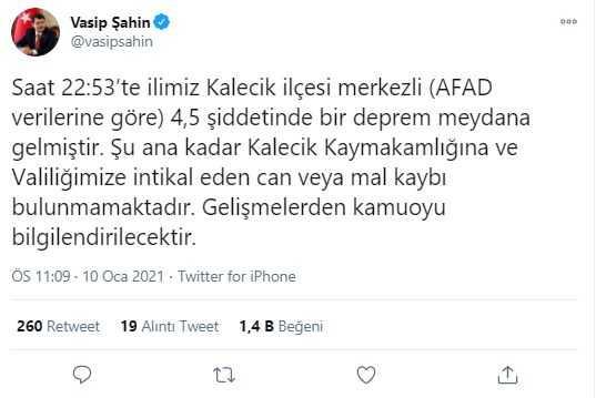 Vasip Şahin'in açıklaması