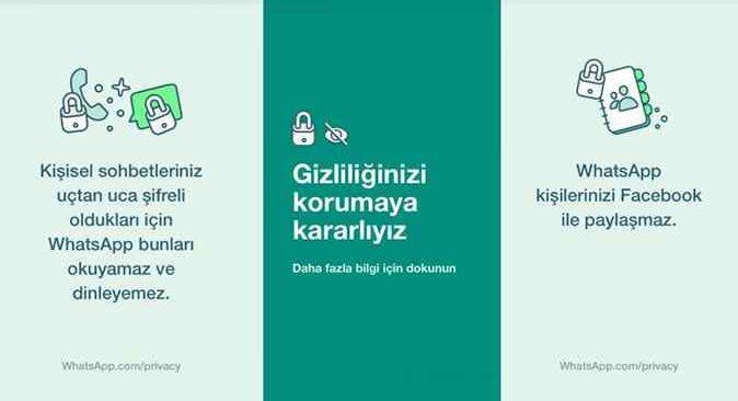 Whatsapp, Türkiye'deki kullanıcılarına